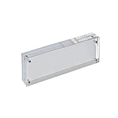 Azar Displays Plastic Vertical/Horizontal Block Sign Holder, 3