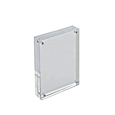 Azar Acrylic Block Sign Holder, Clear Acrylic, 5