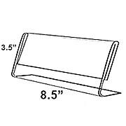 "Azar® 3 1/2"" x 8 1/2"" Horizontal Nameplate Acrylic Sign Holder, 10/Pack"