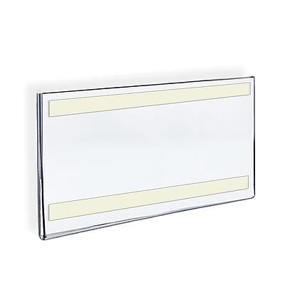 Azar Displays Acrylic Horizontal Wall Mount Sign Holder with Adhesive Tape, 8.5