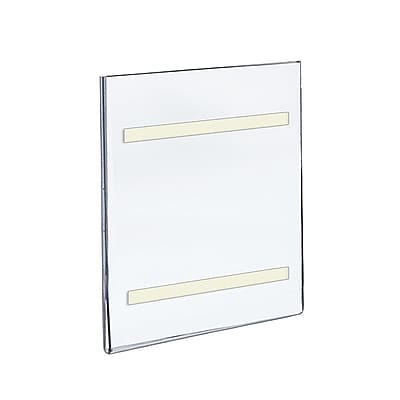 Azar Displays Vertical Wall Mount Sign Holder with Adhesive Tape, 10