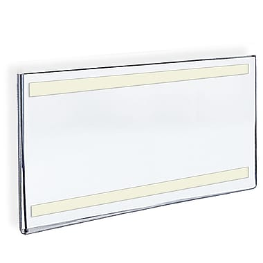 Azar Acrylic Horizontal Wall Mount Sign Holder with Adhesive Tape, 17