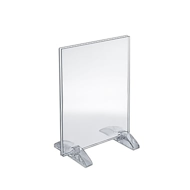 Azar Displays Vertical/Horizontal Dual-Stand Acrylic Sign Holder