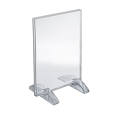 Azar Acrylic Vertical/Horizontal Dual-Stand Sign Holder , 6