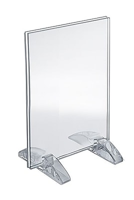 "Azar Acrylic Vertical/Horizontal Dual-Stand Sign Holder , 6"" x 4"", 10/Pack (132726)"