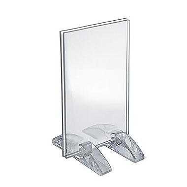 Azar Displays – Porte-affiche vertical/horizontal en acrylique avec support double, 5 x 3,5 po, transparent, 10/paquet (132731)