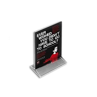 Azar Displays – Porte-étiquette vertical en acrylique avec fente sur le dessus, 7 x 5 po, transparent, 10/paquet (142710)