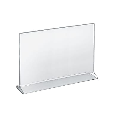 Azar Acrylic Horizontal Top Load Sign Holder, 11