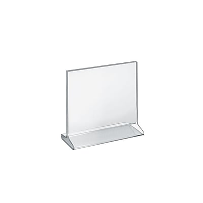 """Azar® 8 1/2"""" x 8 1/2"""" Horizontal Top Load Acrylic Sign Holder, Clear, 10/Pack"""