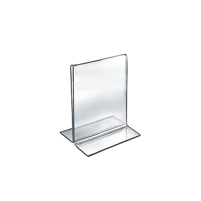 Azar Displays 2-Sided Double-Foot Acrylic Sign Holder 10/Pack