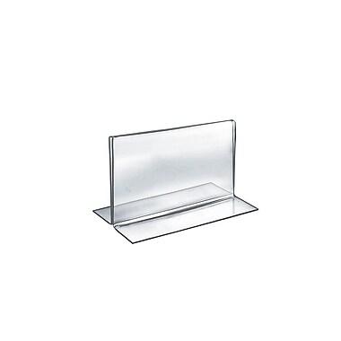 Azar Displays – Porte-affiche horizontal recto verso en acrylique sur pied, 5 x 7 po, transparent, 10/paquet (152723)