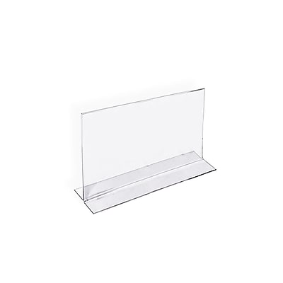 "Azar® 4"" x 6"" Horizontal Double Sided Stand Up Acrylic Sign Holder, Clear, 10/Pack"
