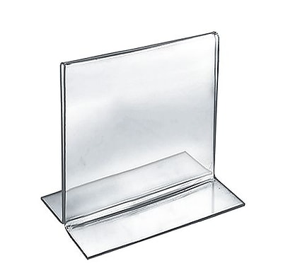"Azar® 5"" x 5"" Square Double Sided Stand Up Acrylic Sign Holder, Clear, 10/Pack"