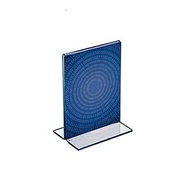 Azar Displays – Porte-affiche vertical recto/verso en acrylique sur pied, 5 x 4 po, transparent, 10/paquet (152729)