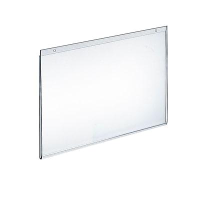 "Azar® 11"" x 14"" Horizontal Wall Mount Acrylic Sign Holder, Clear, 10/Pack"