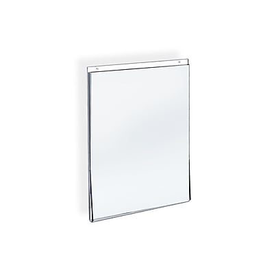 Azar Displays Acrylic Vertical Wall Mount Sign Holder 10/Pack