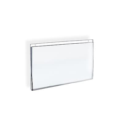 Azar Displays Horizontal Wall Mount Acrylic Sign Holder 10/Pack