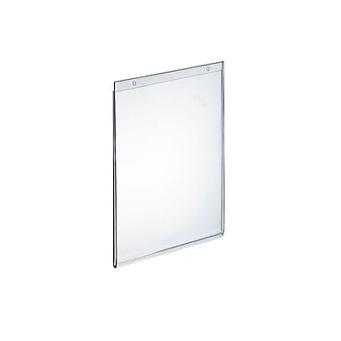 Azar Acrylic Vertical Wall Mount Sign Holder, 11