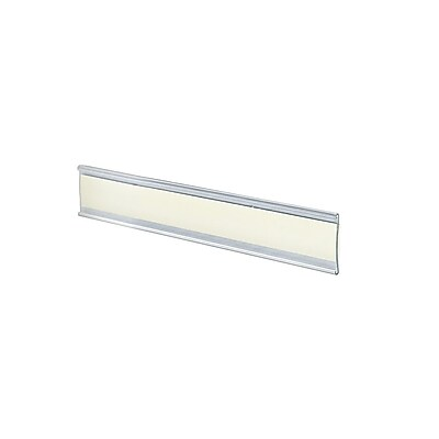 Azar Acrylic C-Channel Nameplate with Adhesive Back, 1.5