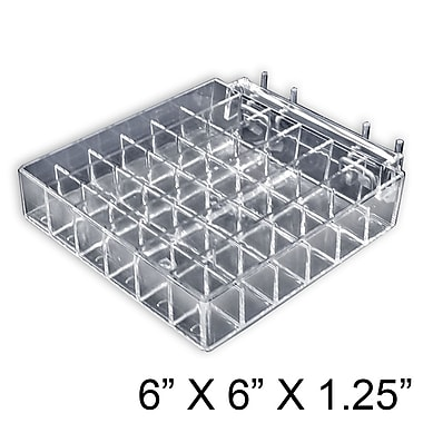 Azar Displays 36 Compartment Lipstick Tray For Pegboard or Slat Wall, 2/Pack (225551)