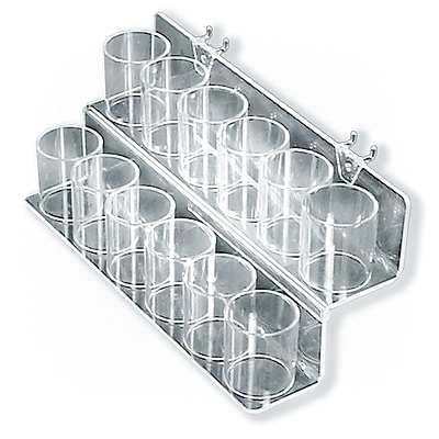 Azar® 2 Tier Cup Display For Pegboard/Slatwall/Counter