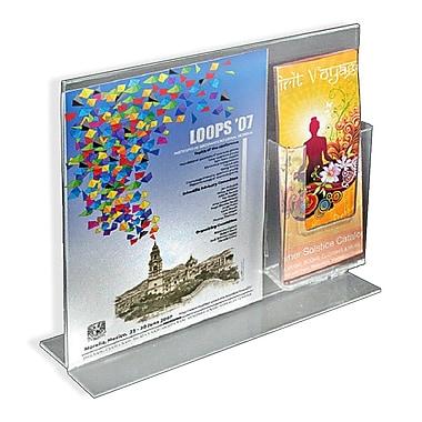 Azar Displays – Porte-affiche vertical recto/verso en acrylique sur pied, 11 x 14 po, 2/paquet (252053)