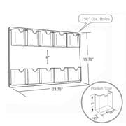 Azar Displays – Porte-documents en acrylique à fixation murale à 10 pochettes, 15,75 x 23,75 po, 2/paquet (252069)