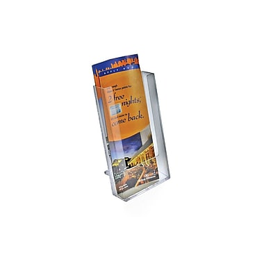 Azar Displays – Présentoir à dépliants simple à trois pans modulaire pour le comptoir, 10/paquet (252300)