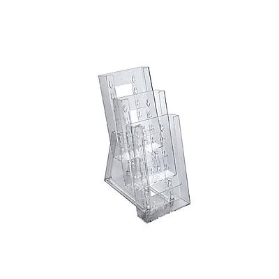 Azar Displays Three-tier Tri-fold Size Counter Modular Brochure Holder 2/Pack