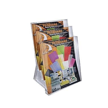 Azar Displays 3-Tier Letter Size Modular Brochure Holder For Counter, 2/Pack (252304)