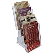 Azar® 4-Tier Bi-Fold Size Modular Brochure Holder For Counter, 2/Pack