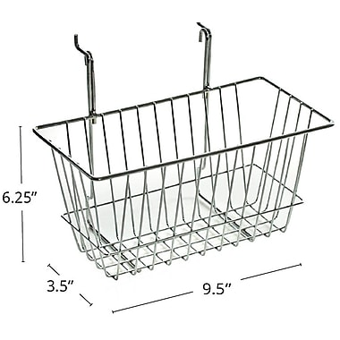 Azar Displays Wire Basket, Chrome, 6 1/4