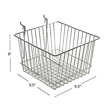 Azar Displays Wire Basket, Chrome, 4.25