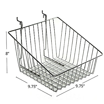 Azar® Sloped Wire Basket, Chrome, 8