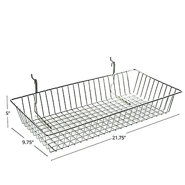 Azar Displays Wire Basket, Chrome, 5