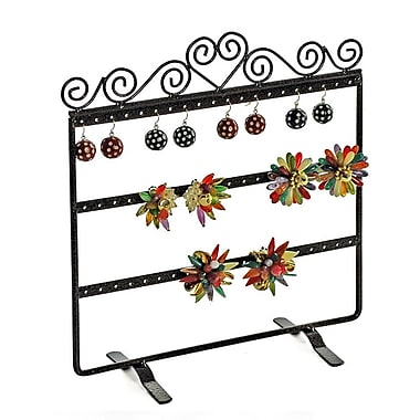 Azar Displays Double Sided 3 Rows Earring Display, Bronze