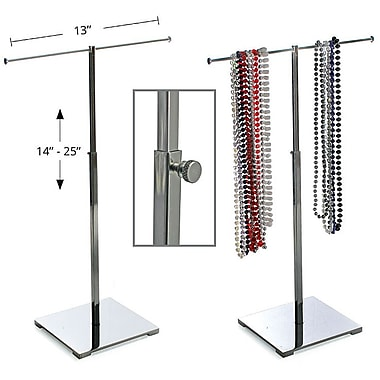 Azar Displays Single Pole Necklace Display, Chrome (300651)