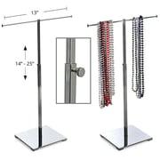 Azar Displays – Présentoir à tige unique pour colliers, chromé (300651)