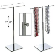 Azar Displays Single Pole Necklace Display, Chrome