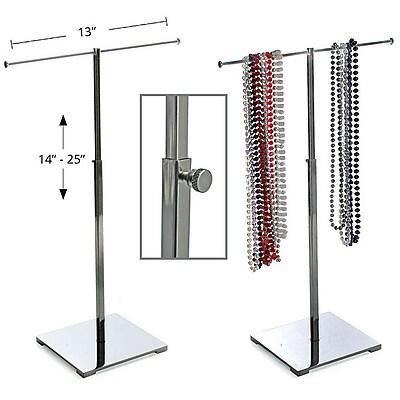Azar® Single Pole Necklace Display, Chrome