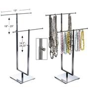 Azar Displays – Présentoir à 2 tiges pour colliers, chromé (300652)