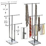 Azar Displays – Présentoir à 3 tiges pour colliers, chromé (300653)