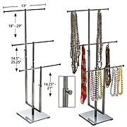 Azar® 3 Pole Necklace Display, Chrome
