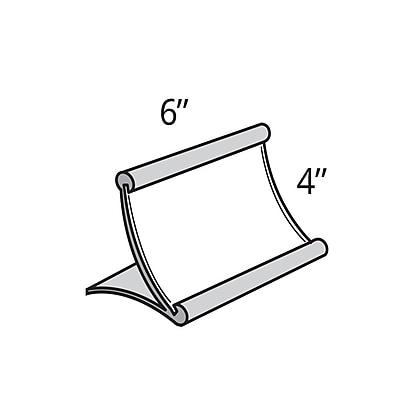Azar Displays Metal Curved Countertop Sign Holder, 4