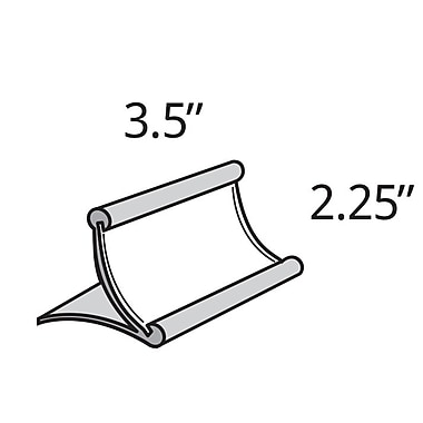 Azar Displays Metal Curved Countertop Sign Holder, 2.25