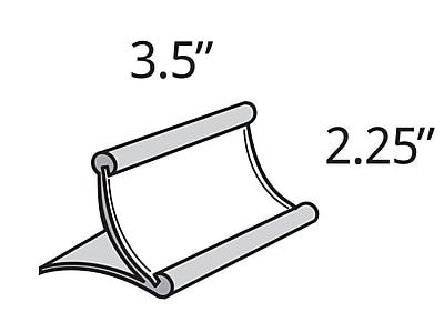 Azar Displays Metal Curved Countertop Sign Holder, 2.25