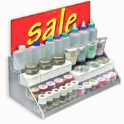 "Azar Displays 8""(H) x 16""(W) x 8""(D) 4-Tier Counter Step Display, Clear"