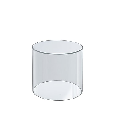 Azar Displays – Support cylindrique transparent, 6 x 6 po (556605)