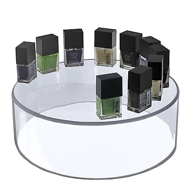 Azar Displays – Support cylindrique transparent, 10 x 6 po (556905)