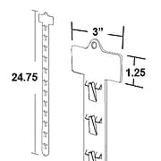 "Azar® 24 3/4"" x 1 1/8"" 12 Station Display Strip, 50/Pack"